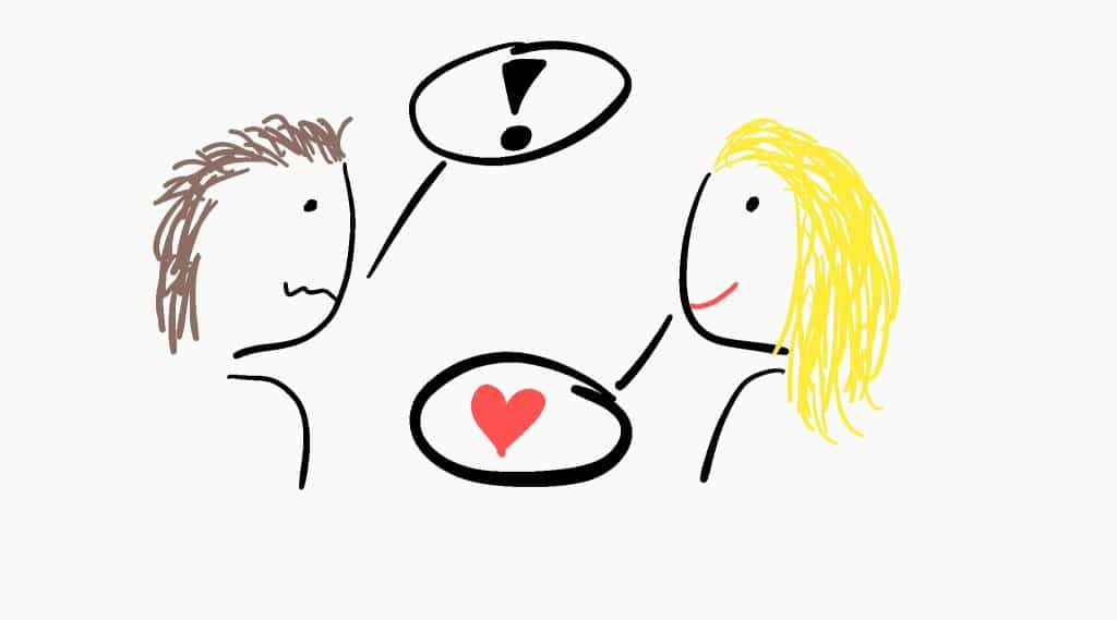 Kommunikation mit Partnerin